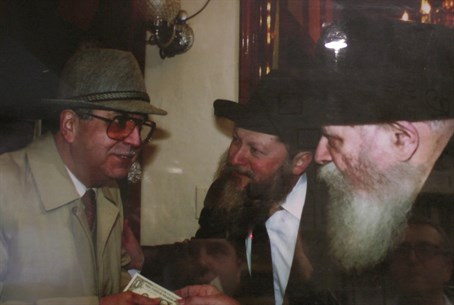 Jo AMar with Lubavicher Rebbe