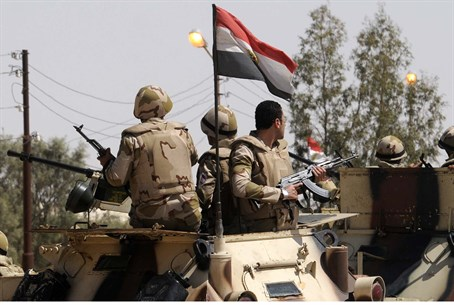 Egyptian security personnel