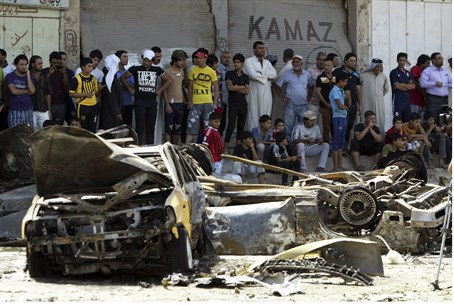 Aftermath of Iraq bomb attack Sept 15
