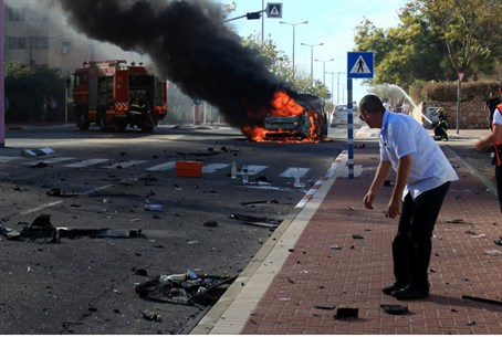 Aftermath of Ashkelon car bombing