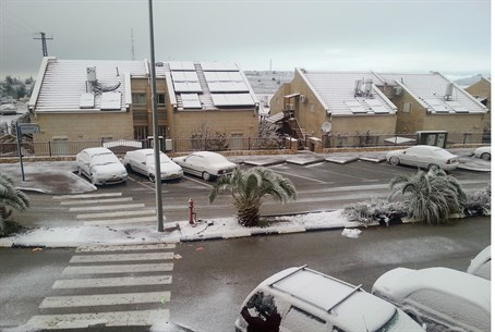 Snow in Beit El