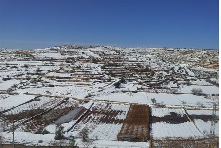 Picturesque Snow in Gush Etzion