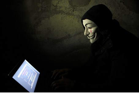 'Anonymous' hacker (illustrative)