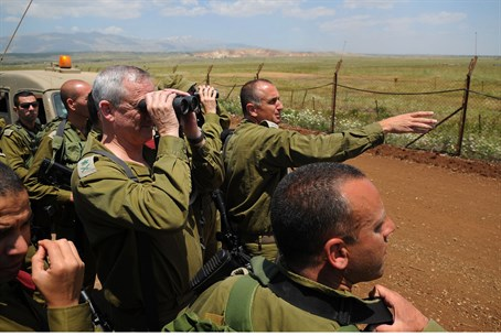 IDF Chief of Staff Benny Gantz at the Syrian