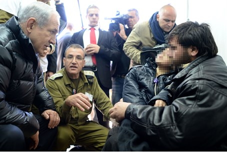 Prime Minister Netanyahu meets Syrian being treated in Israel