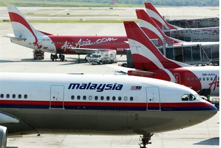 Malaysian Airlines plan (illustration)