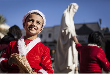 Christian Arab boy in Nazareth (file)