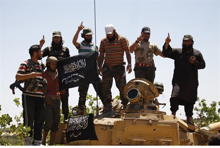 Syrian rebels from the Al Qaeda-linked Nusra