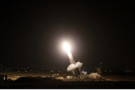 Iron Dome near southern Israeli city of Ashdo