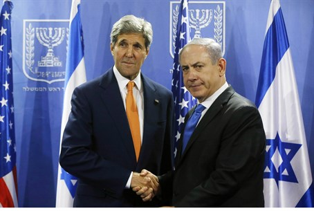 Kerry and Netanyahu (file)