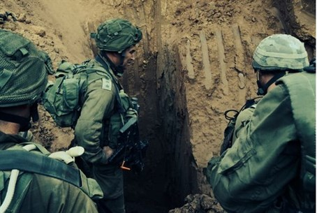 IDF forces at Hamas terror tunnel entrance