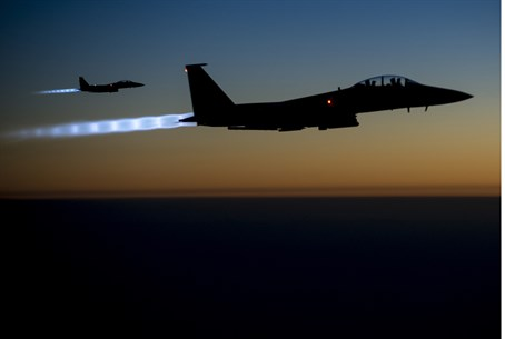 US F15-E jets fly over northern Iraq
