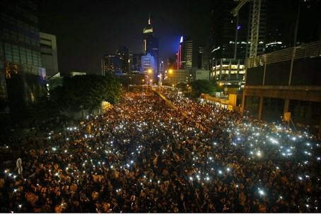Hong Kong protests for democracy