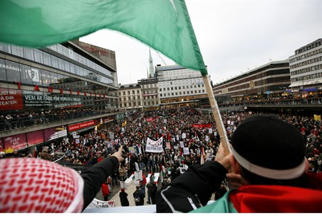 Anti-Israel protest in Sweden