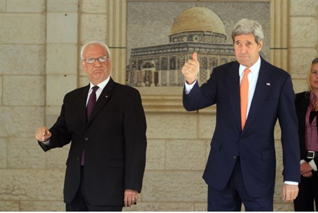 Kerry and Erekat (file)