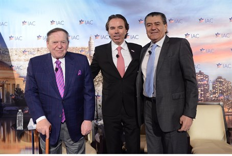 Sheldon Adelson, Shawn Evenhaim and Haim Saba