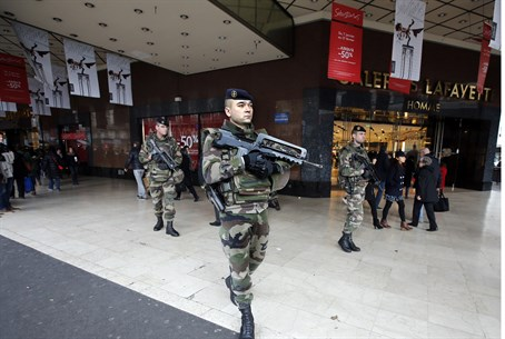 French soldiers deployed in Paris