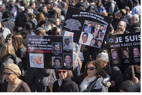 Funeral for Jews murdered in Paris (file)
