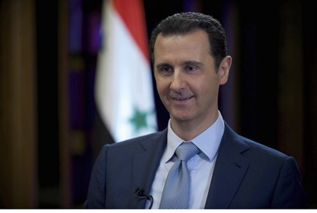 Syria's Bashar al-Assad during BBC interview