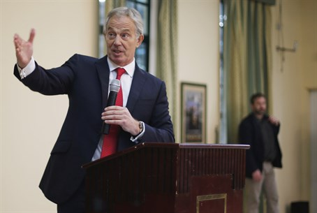 Tony Blair visits Gaza City