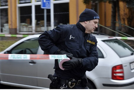 Czech police cordon off the site of fatal shooting attack