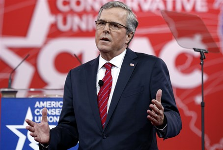 Jeb Bush speaks at the Conservative Political Action Conference (CPAC)
