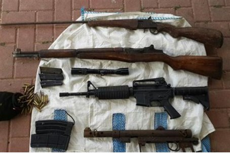 Weapons seized in Samua, 2.5.15