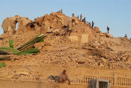 Jonah's Tomb in Mosul after ISIS destruction