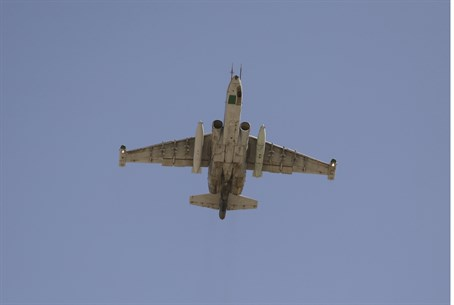 Sukhoi Su-25 fighter plane
