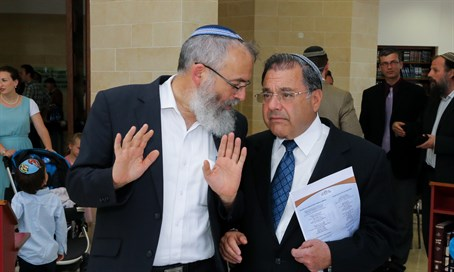 Rabbis David Stav and Shlomo Riskin, leaders of new conversion courts