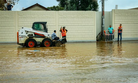 Flooding in Ra'anana