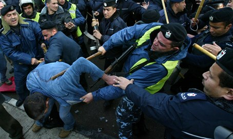 PA Security Force beats protester (file)
