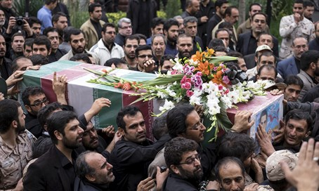 Funeral in Iran of Revolutionary Guards soldier killed in Syria