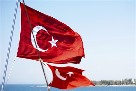 Turkish flag. Illustration