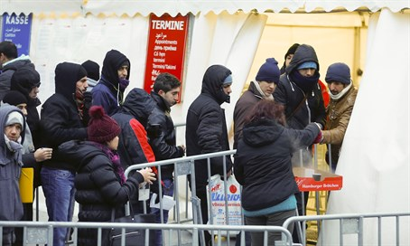 Migrants arrive in Germany (file)
