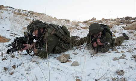IDF soldiers operate in snow