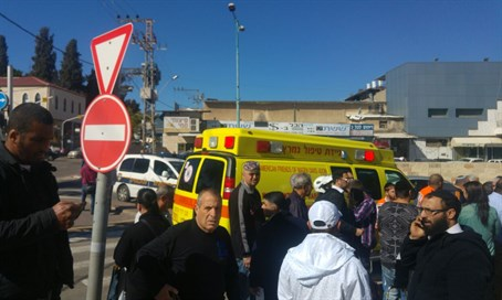 Scene of stabbing attack in Ramle