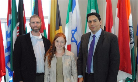 The Meir family and Ambassador Danon at the UN