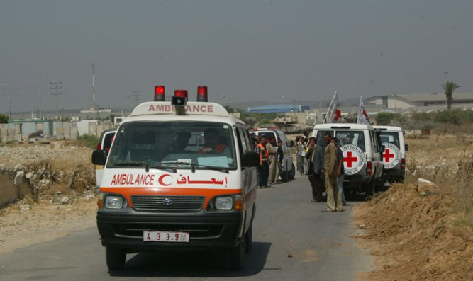 Red Crescent ambulance (illustrative)