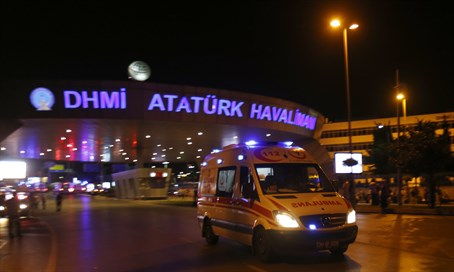 SIte of attack on Ataturk Airport in Istanbul