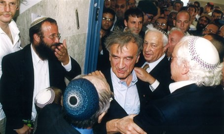 Elie Wiesel next to Michael Mark