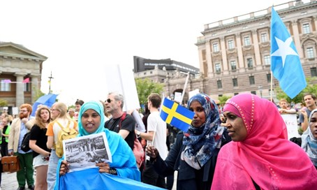 Migrant demo in Sweden (file)