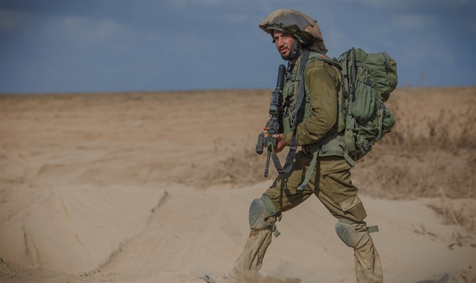 IDF soldier returning from Gaza