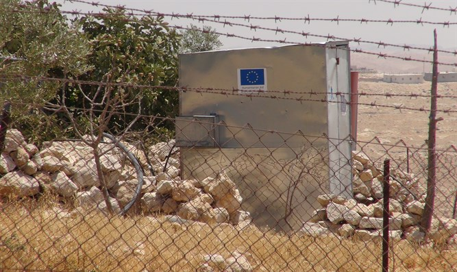 EU-funded illegal Arab buildings