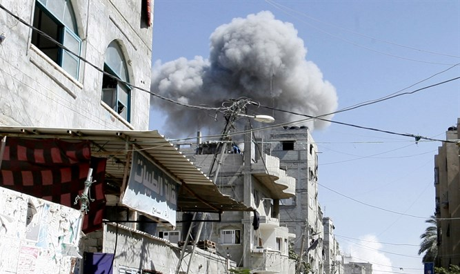 Airstrike in Gaza (illustrative)