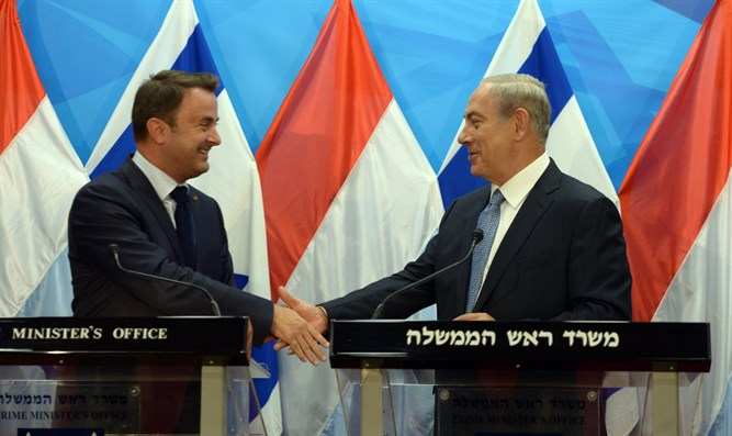 Netanyahu with Luxembourg PM Bettel