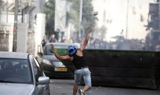 Rock throwing in Jerusalem. Illustrative.