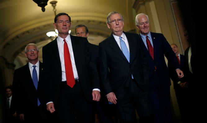 Republican Senators McConnell, Barrasso, Thune, Wicker, and Cornyn