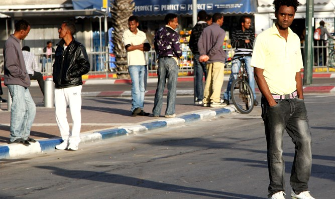 Illegal infiltrators in southern Tel Aviv