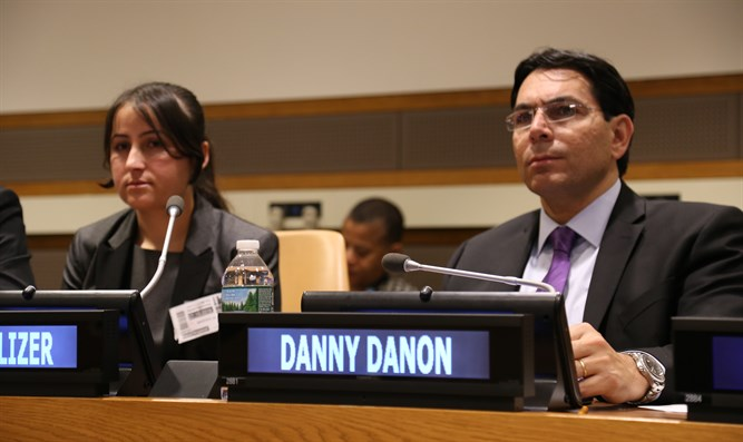 Ambassador Danon and Ms. Al Aliko at the UN